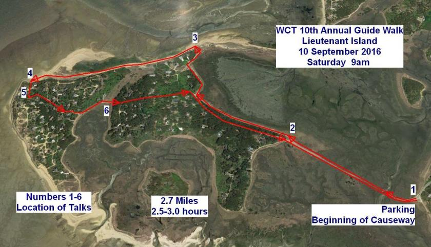 WCT 10th Annual Guided Walk; map by Wellfleet Conservation Trust
