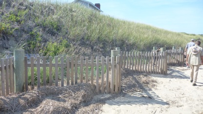 Zigzag, double fence for erosion control