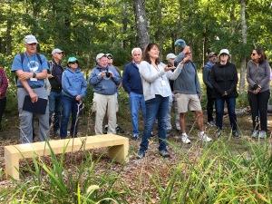 Susan Anthony describing the community garden